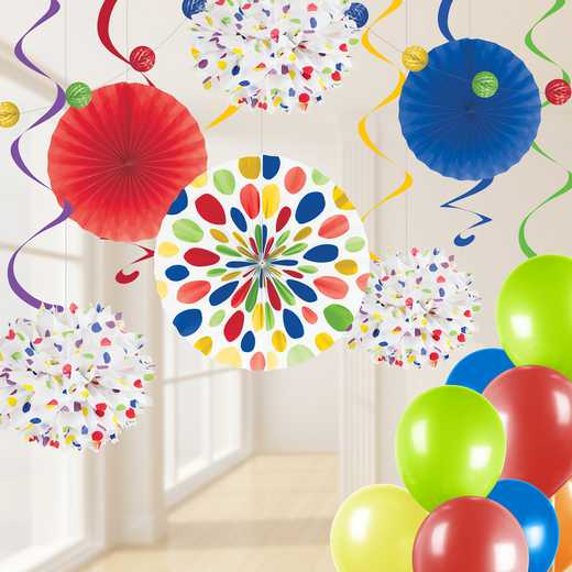 DTCMULTI1A: CC Multicolor Party Decorations Kit