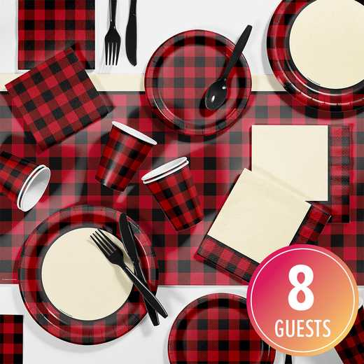 DTC2292E2A: CC Buffalo Plaid Party Supplies Kit