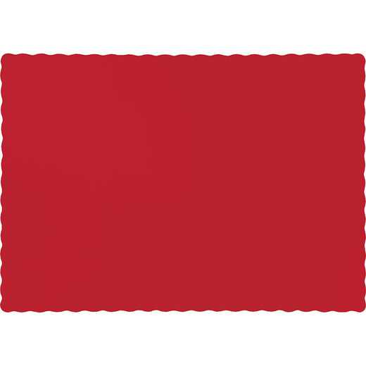 863548B: CC Classic Red Placemats - 50 Cnt