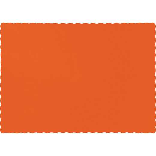 863282B: CC Sunkissed Orange Placemats - 50 Cnt