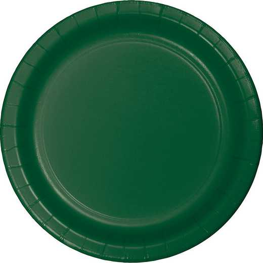 503124B: CC Hunter Green Banquet Plates - 24 Cnt
