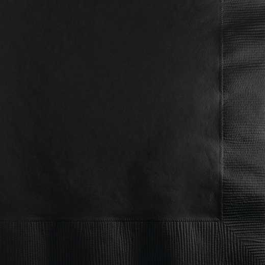 259134: CC Black Beverage Napkins - 200 Cnt