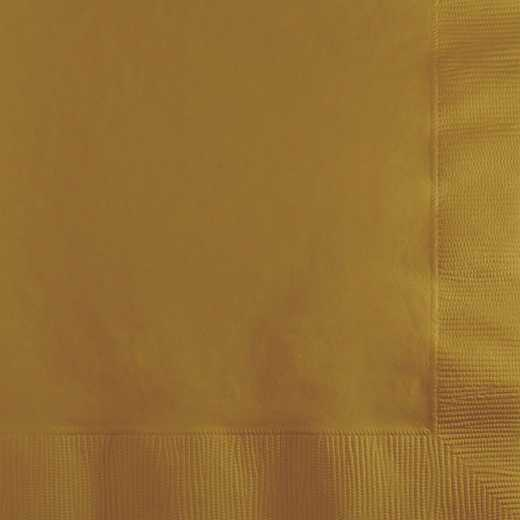 253276: CC  Gold Beverage Napkins 200 Cnt