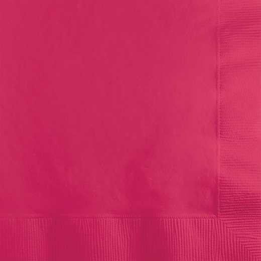 250177: CC Hot Magenta Beverage Napkins - 200 Cnt