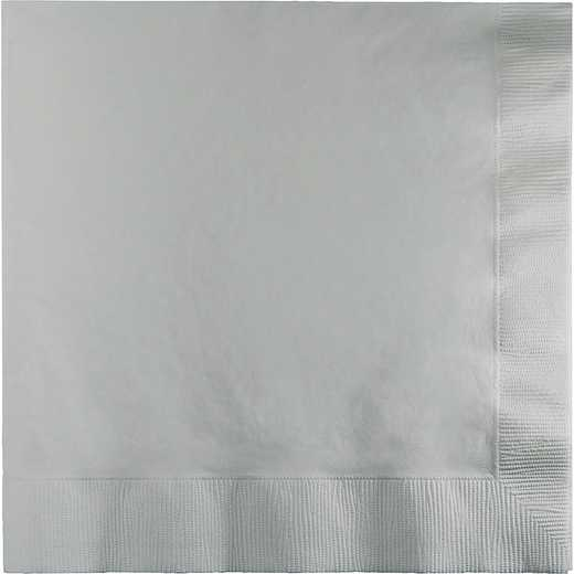 363281: CC Shimmering Silver Lg Napkins - 150 Cnt