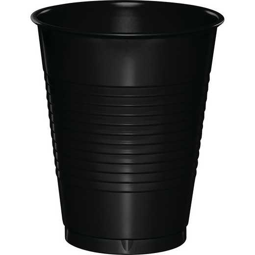 28134081B: CC Black 16 oz Plastic Cups - 50 Cnt