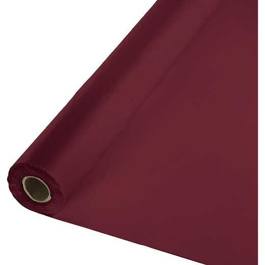 763122: CC Burgundy Red Plastic Banq Roll -100'