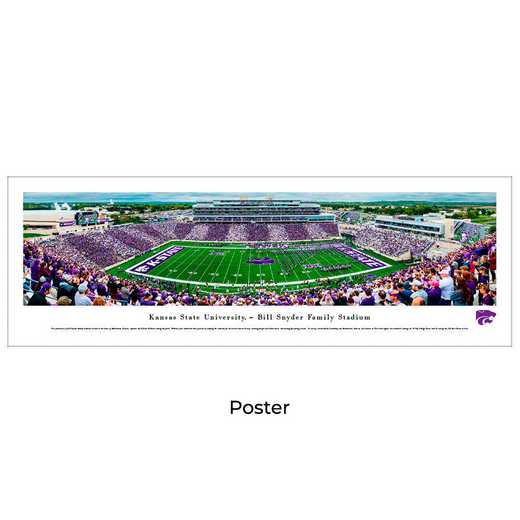 KSU6: Kansas State Wildcats Football #6 - Stadium Stripe - Unframed