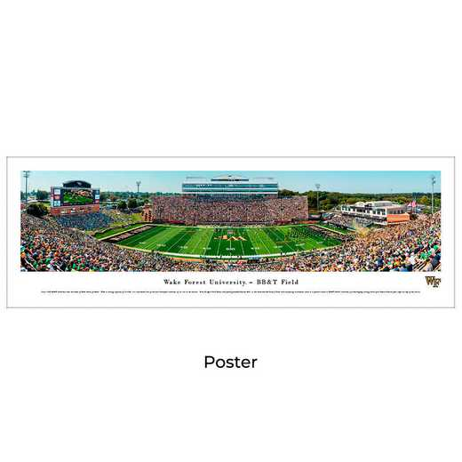 WFU4: Wake Forest Demon Deacons Football #4, Unframed Poster