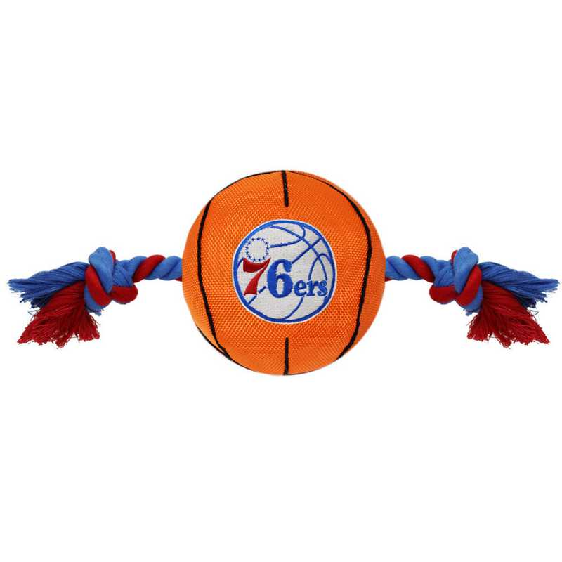 76R-3105: 76ERS NYLON BASKETBALL ROPE TOY