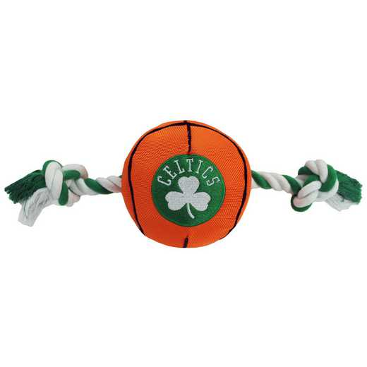 CEL-3105: BOSTON CELTICS NYLON BASKETBALL ROPE TOY
