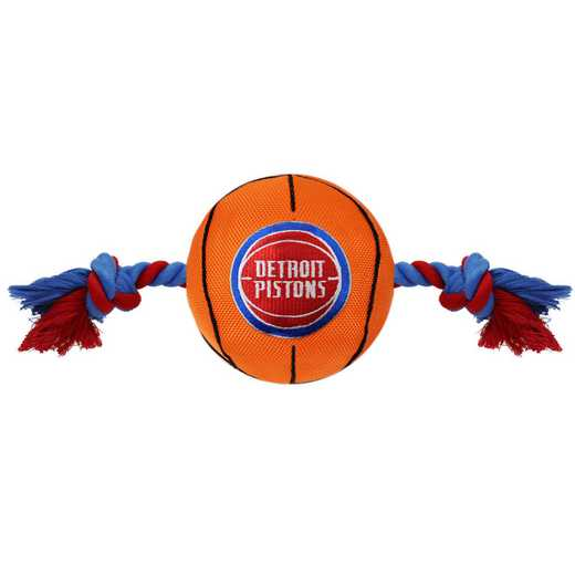 PST-3105: DETROIT PISTONS NYLON BASKETBALL ROPE TOY