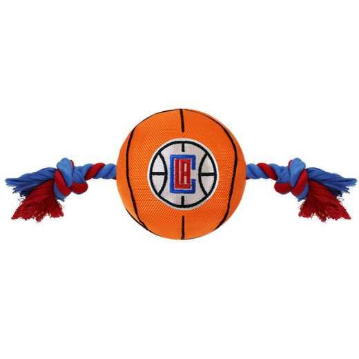LAC-3105: LA CLIPPERS NYLON BASKETBALL ROPE TOY