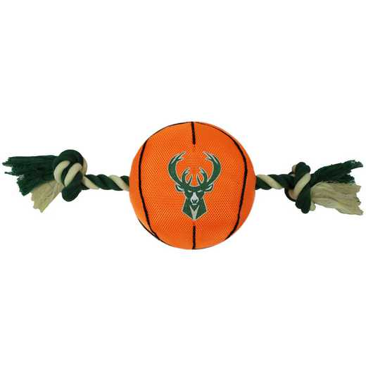 BUK-3105: MILWAUKEE BUCKS NYLON BASKETBALL ROPE TOY