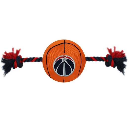 WWZ-3105: WASHINGTON WIZARDS NYLON BASKETBALL ROPE TOY