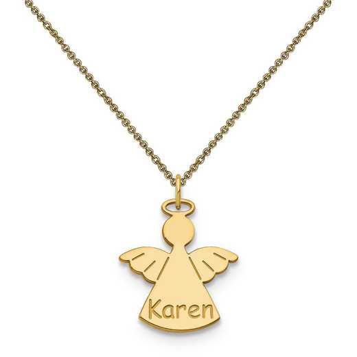 10XNA868Y-10PE53-18: 10k Yellow Gold Angel Name Charm