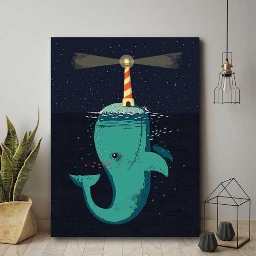 WEB-MV398-16x20: CM King of The NarwhalsCanvas , 16x20