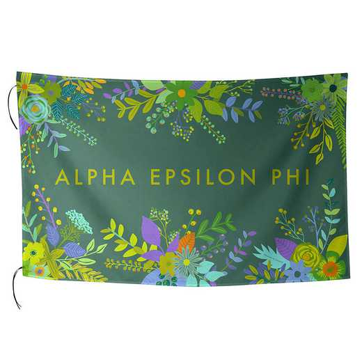AA3018AEP: ALEX CO SUBLIMATED FLAG ALPHA EPSILON PHI