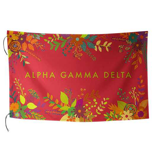 AA3018AGD: ALEX CO SUBLIMATED FLAG ALPHA GAMMA DELTA
