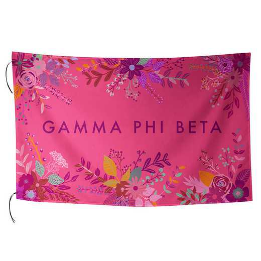 AA3018GPB: ALEX CO SUBLIMATED FLAG GAMMA PHI BETA
