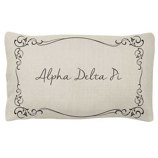 AA3024ADP: Alex Co LUMBAR PILLOW ALPHA DELTA PI