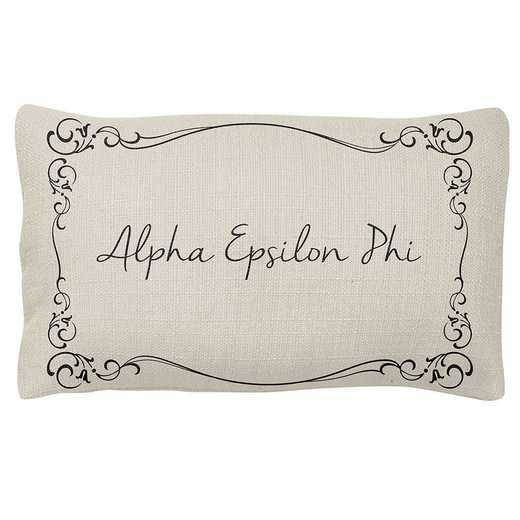 AA3024AEP: Alex Co LUMBAR PILLOW ALPHA EPSILON PHI