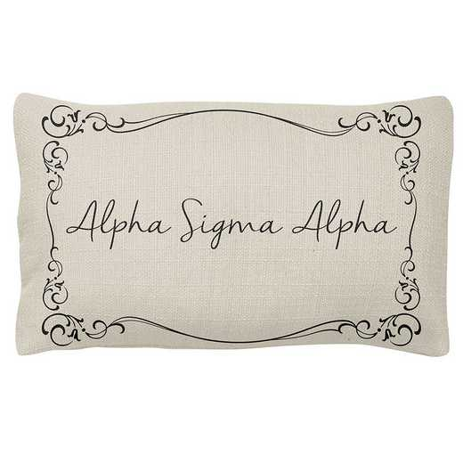 AA3024ASA: Alex Co LUMBAR PILLOW ALPHA SIGMA ALPHA