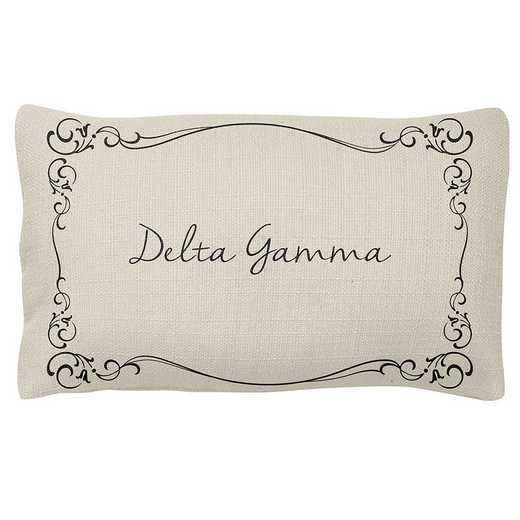 AA3024DG: Alex Co LUMBAR PILLOW DELTA GAMMA