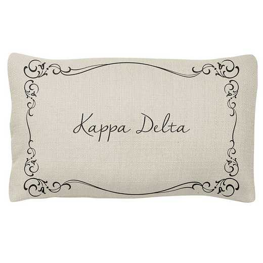 AA3024KD: Alex Co LUMBAR PILLOW KAPPA DELTA