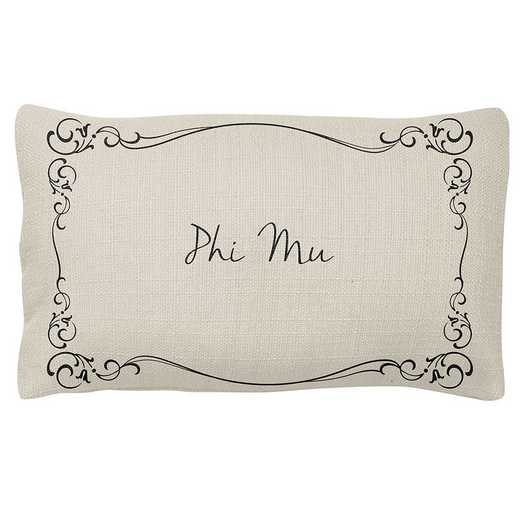 AA3024PM: Alex Co LUMBAR PILLOW PHI MU