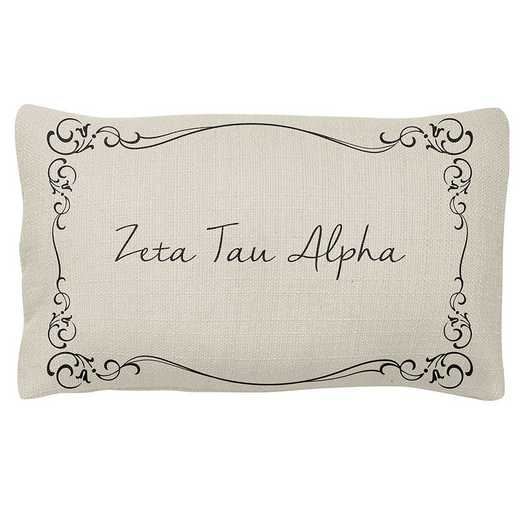 AA3024ZTA: Alex Co LUMBAR PILLOW ZETA TAU ALPHA