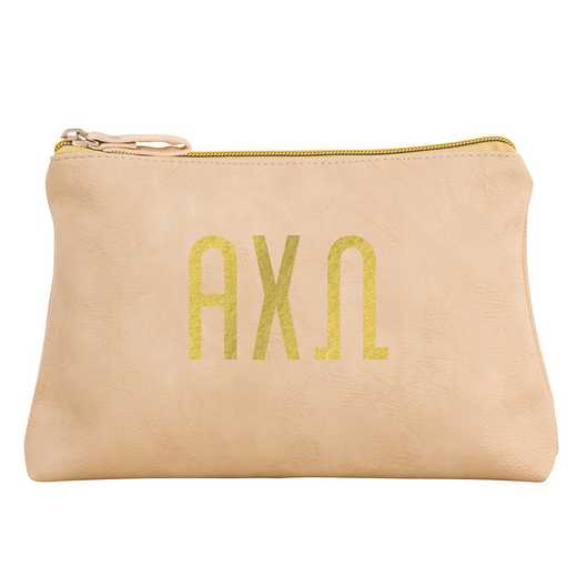 AA3010ACO: Alex Co COSMETIC BAG ALPHA CHI OMEGA