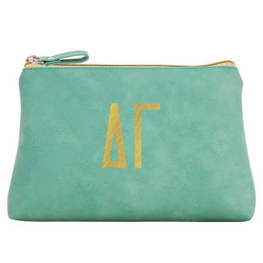 AA3010DG: Alex Co COSMETIC BAG DELTA GAMMA