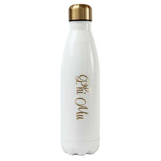 AA3001PM: Alex Co SS WATER BOTTLE  PHI MU (F16)