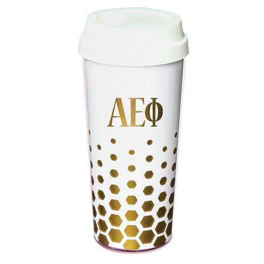 AA3002AEP: Alex Co COFFEE TUMBLER ALPHA EPSILON PHI (F16)