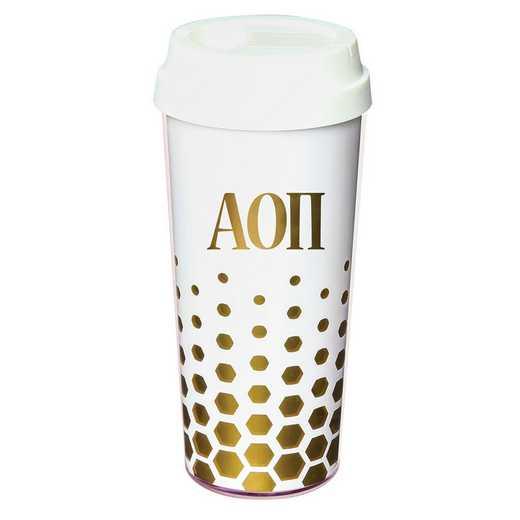 AA3002AOP: Alex Co COFFEE TUMBLER ALPHA OMICRON PI (F16)
