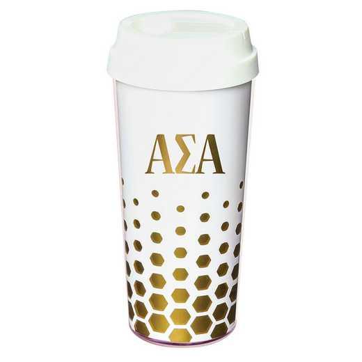 AA3002ASA: Alex Co COFFEE TUMBLER ALPHA SIGMA ALPHA (F16)