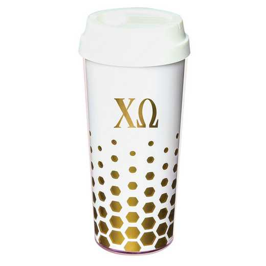AA3002CO: Alex Co COFFEE TUMBLER  CHI OMEGA (F16)