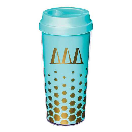 AA3002DDD: Alex Co COFFEE TUMBLER  DELTA DELTA DELTA (F16)