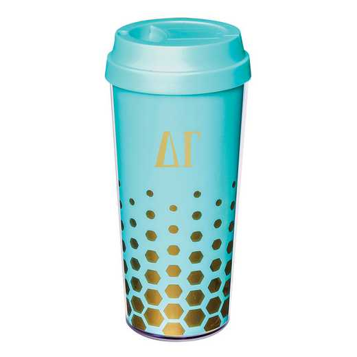 AA3002DG: Alex Co COFFEE TUMBLER  DELTA GAMMA (F16)