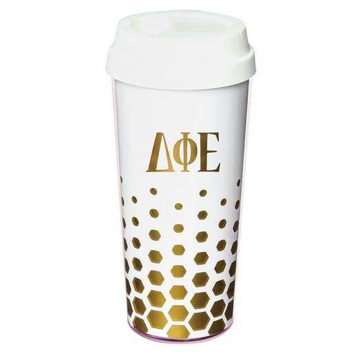 AA3002DPE: Alex Co COFFEE TUMBLER  DELTA PHI EPSILON (F16)