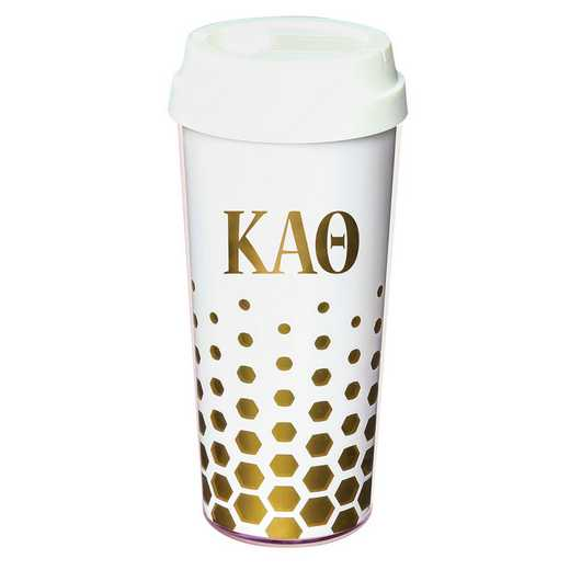 AA3002KAT: Alex Co COFFEE TUMBLER  KAPPA ALPHA THETA (F16)