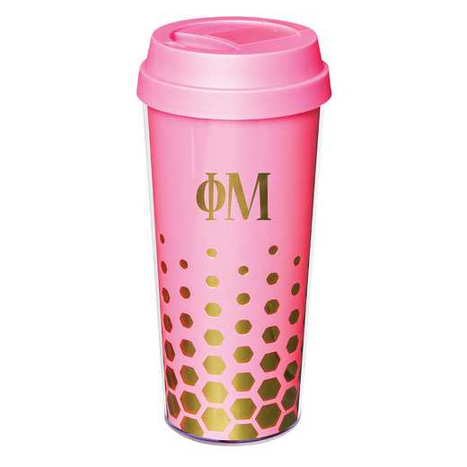 AA3002PM: Alex Co COFFEE TUMBLER  PHI MU (F16)