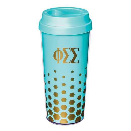 AA3002PSS: Alex Co COFFEE TUMBLER  PHI SIGMA SIGMA (F16)