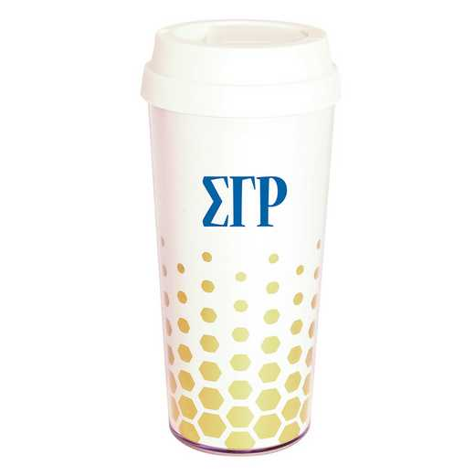 AA3002SGR: Alex Co COFFEE TUMBLER  SIGMA GAMMA RHO (F16)