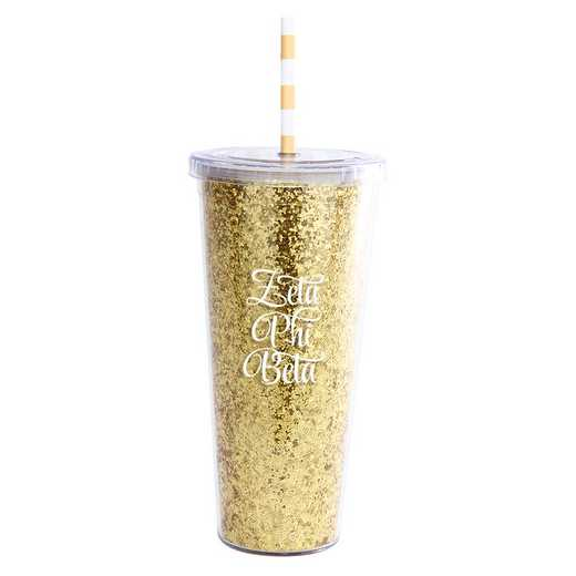 AA3003ZPBT: Alex Co GLITTER TUMBLER ZETA PHI BETA