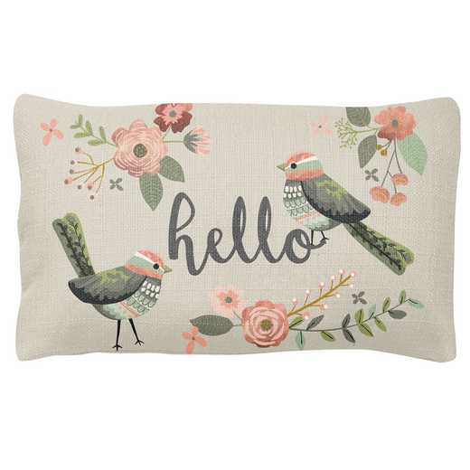 KA302133: Karma LUMBAR PILLOW BIRD (F18)