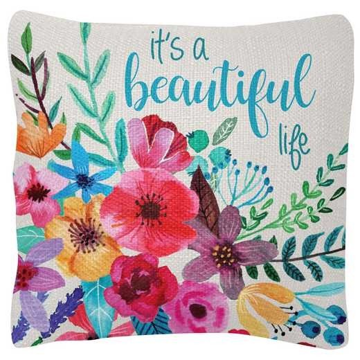 KA204830: Karma SQUARE PILLOWS FLORAL (S19)