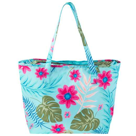 KA302984: Karma Cooler Tote Multicolored Aqua Floral