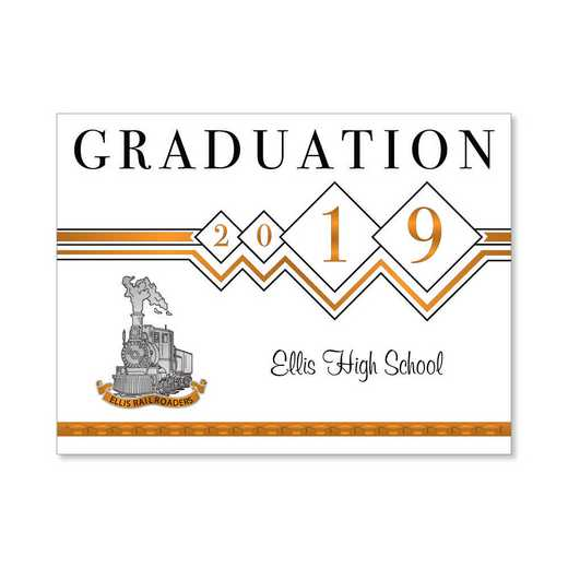 Ellis High Traditional Personalized Announcement